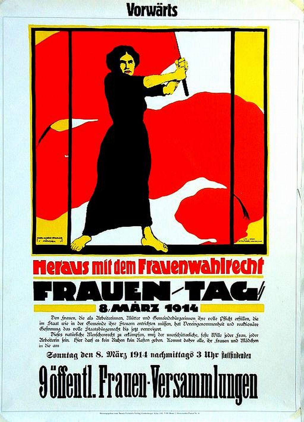 Das bekannteste Werbeplakat für den internationalen Frauentag