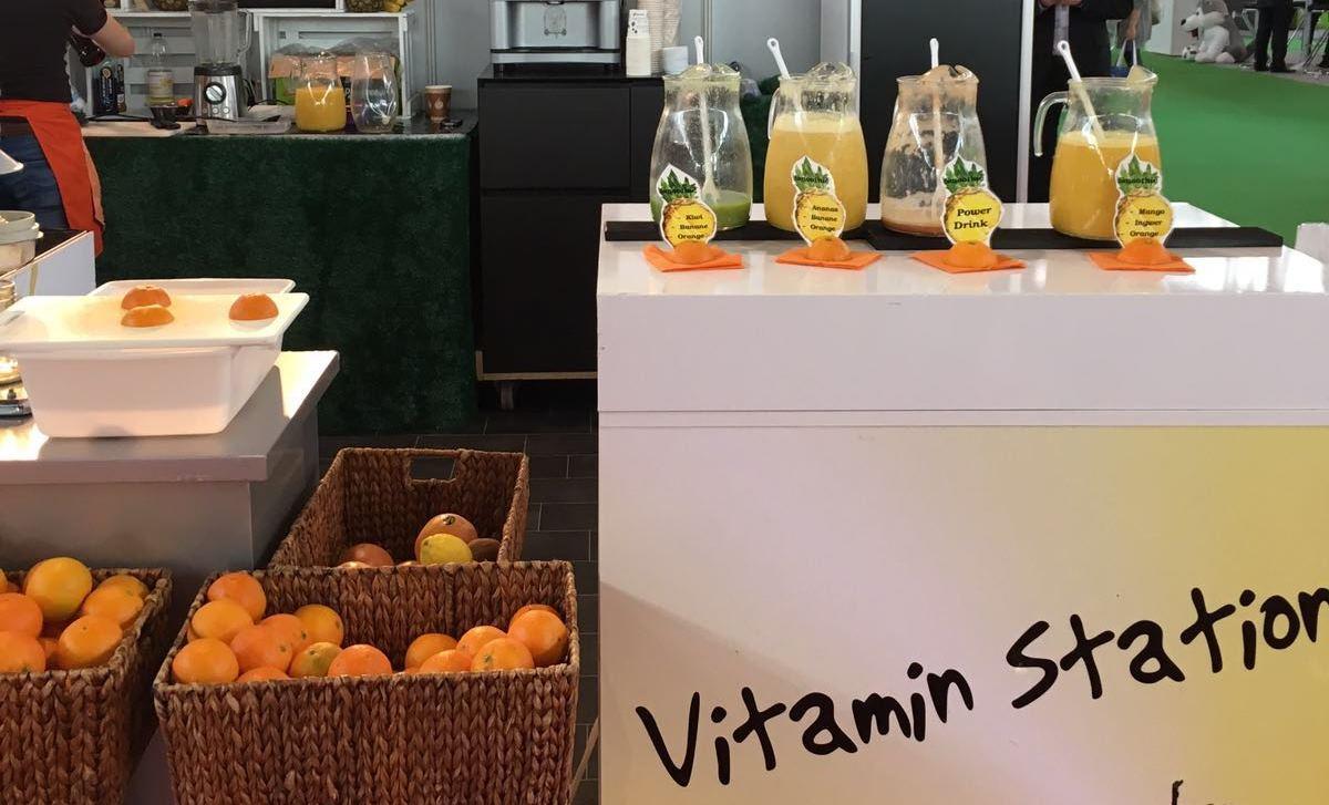 Vitamin-Saftbar auf der Corporate Health Convention