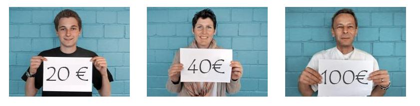Auch kleine Spenden helfen am World-Bloddcancer-Day